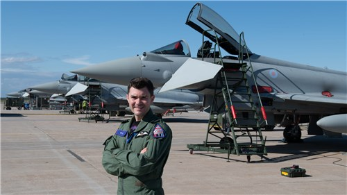 Commanding officer No. 6 Squadron from Lossiemouth, Matthew D'Aubyn.
