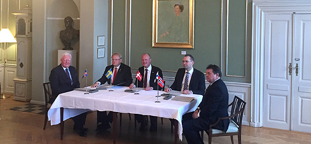 Memorandum of Understanding on Easy Access signed by Nordic Defence Ministers